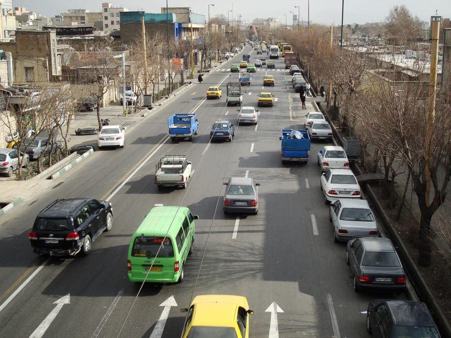 Улица города Тегеран Иран