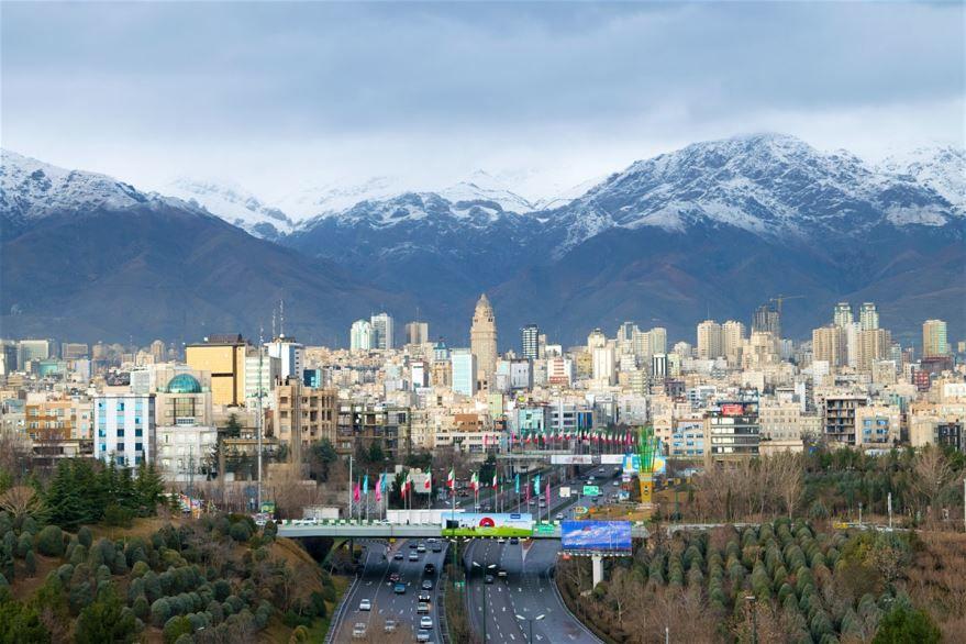 Вид на город Тегеран