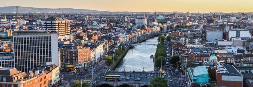 Панорама города Дублин