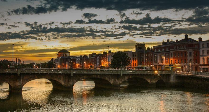 Вид на город Дублин