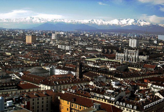 Панорама город Турин