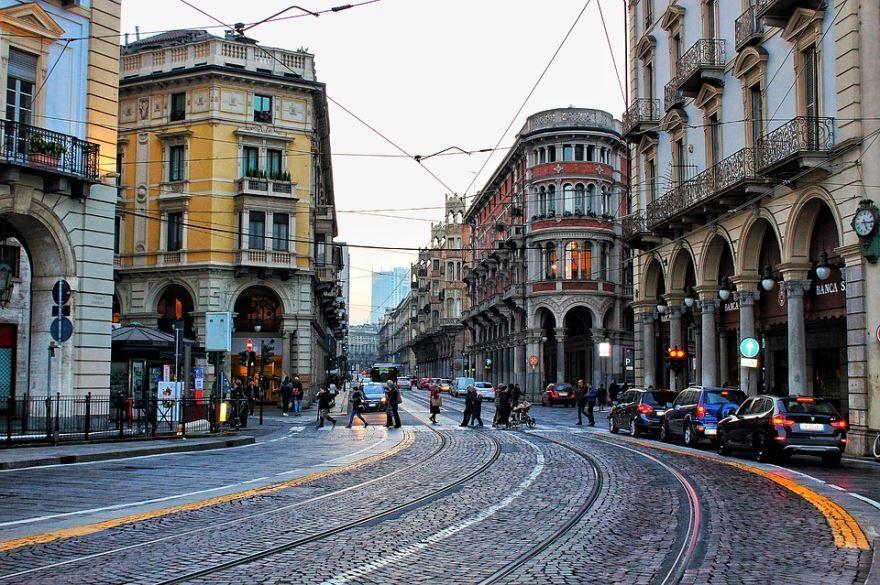 Смотреть красивое фото города Турин Италия