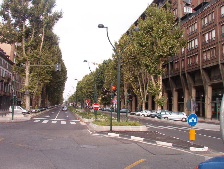 Улица города Турин Италия