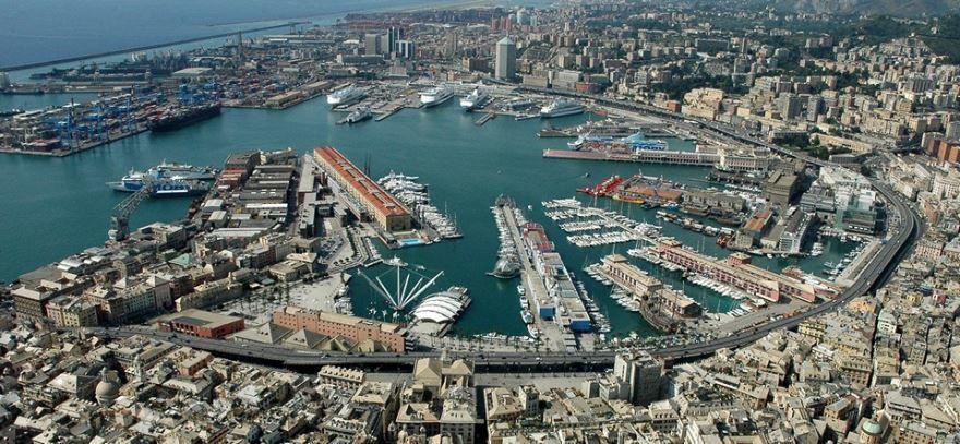 Вид на город Генуя