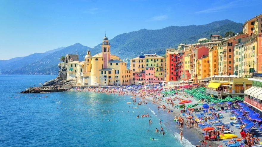 Пляж город Генуя