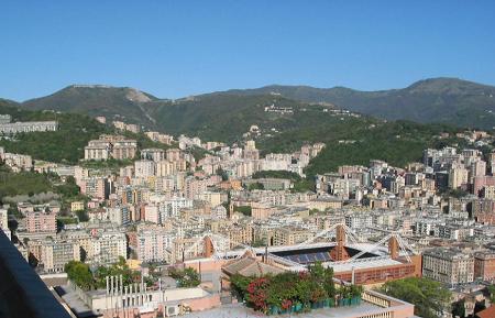 Вид города Генуя Италия