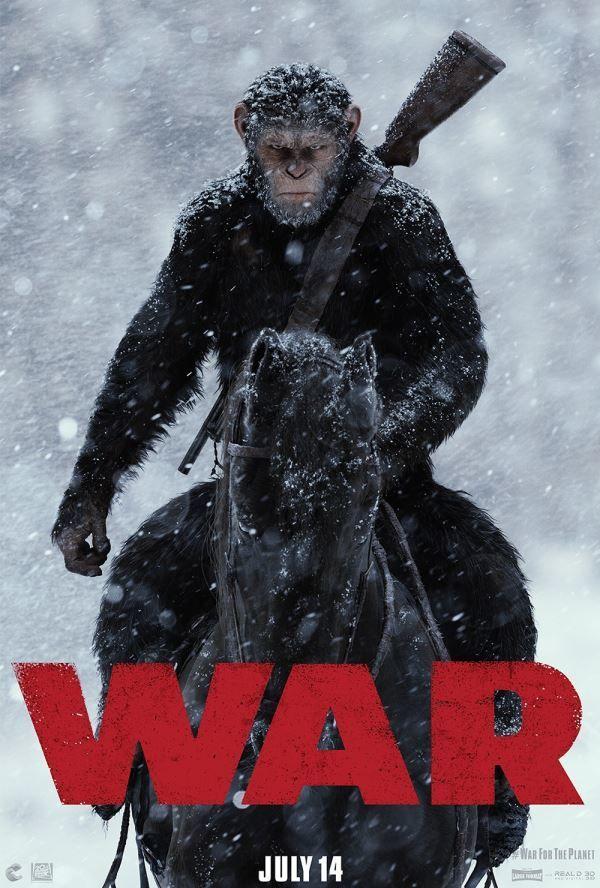 Смотреть бесплатно постеры и кадры к фильму Планета обезьян: война онлайн