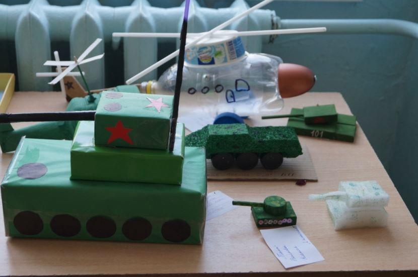 Поделка танков на 23 февраля