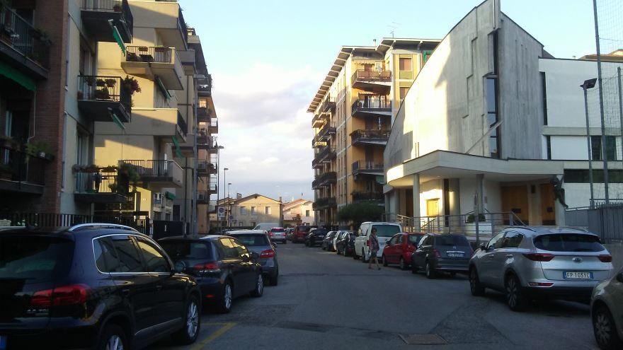 Улица город Верона Италия