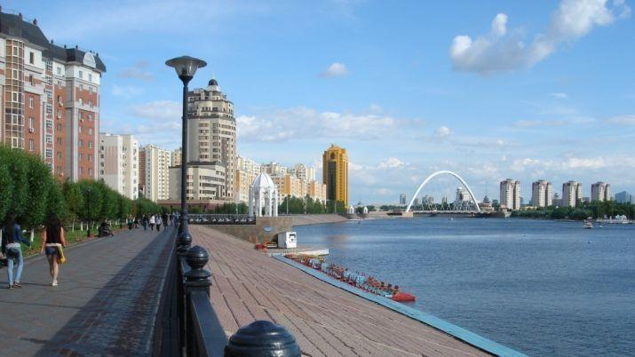 Набережная города Астана Казахстан