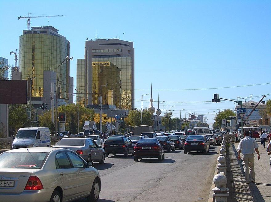 Улица города Астана Казахстан