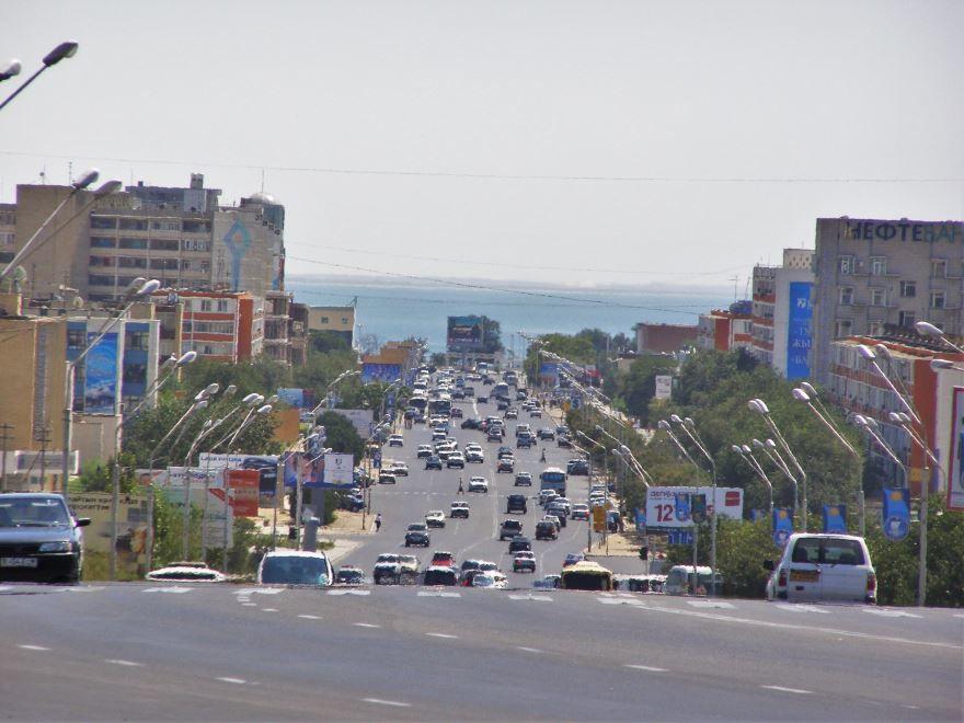 Улица город Актау Казахстан