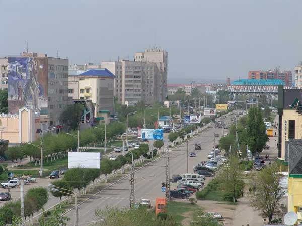 Улица город Актобе