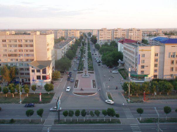 Вид на город Актобе