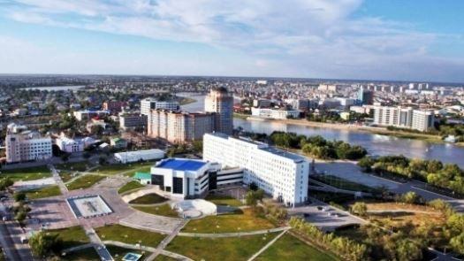 Вид на город Атырау