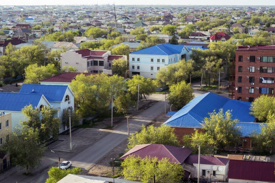 Панорама город Атырау Казахстан