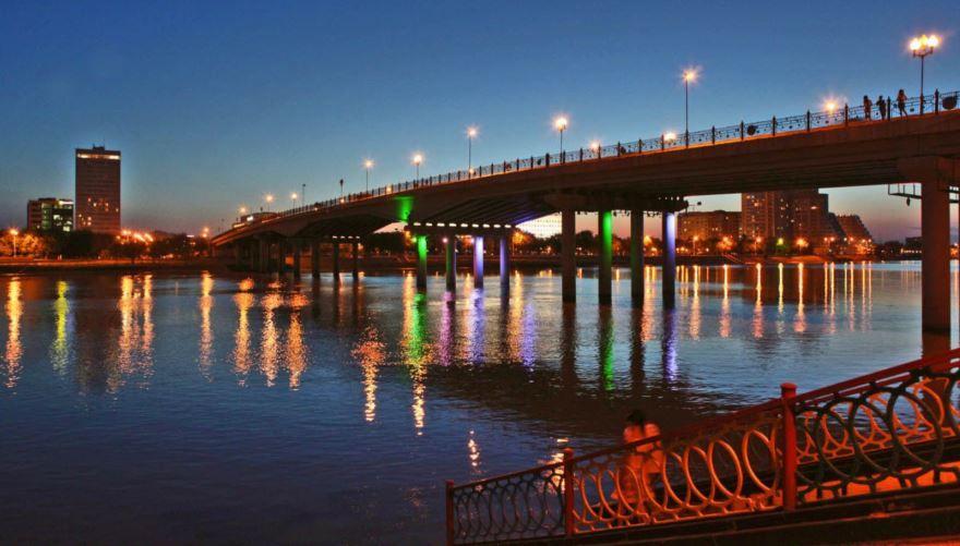 Урал река город Атырау