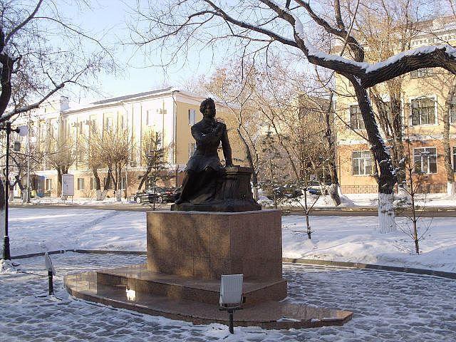 Памятник А.С. Пушкину город Караганда