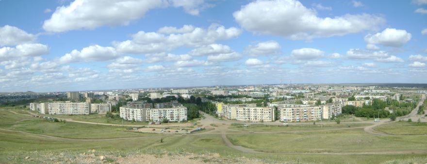 Панорама город Кокшетау Казахстан