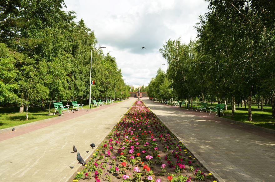 Парк Победы город Костанай