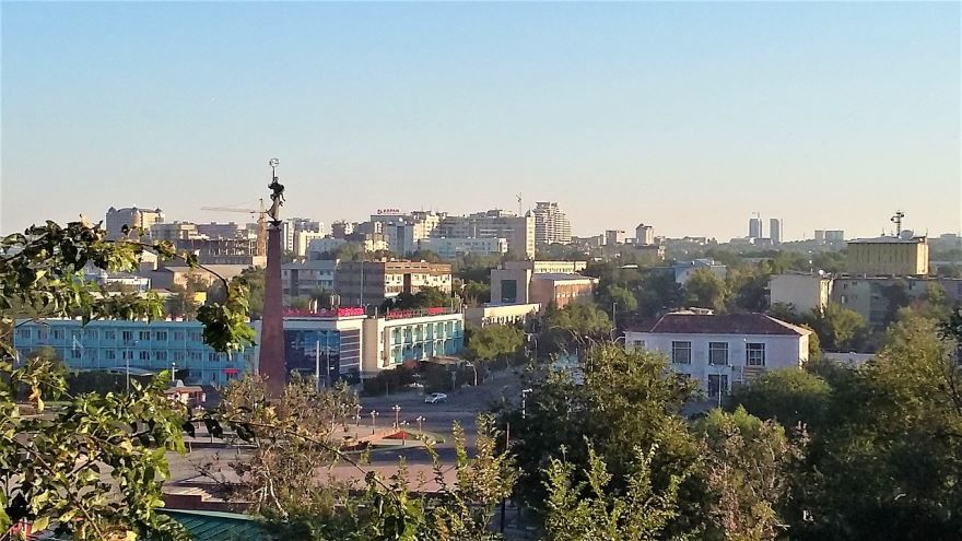 Панорама города Шымкент Казахстан