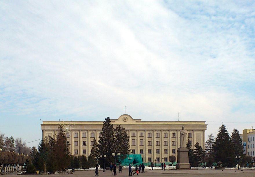 Здание администрации города Уральск Казахстан