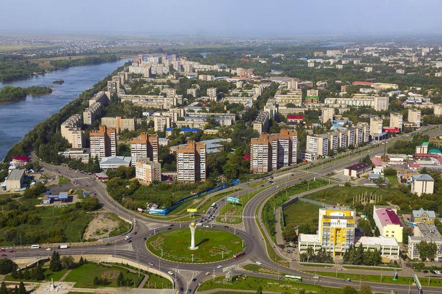 Панорама город Усть-Каменогорск
