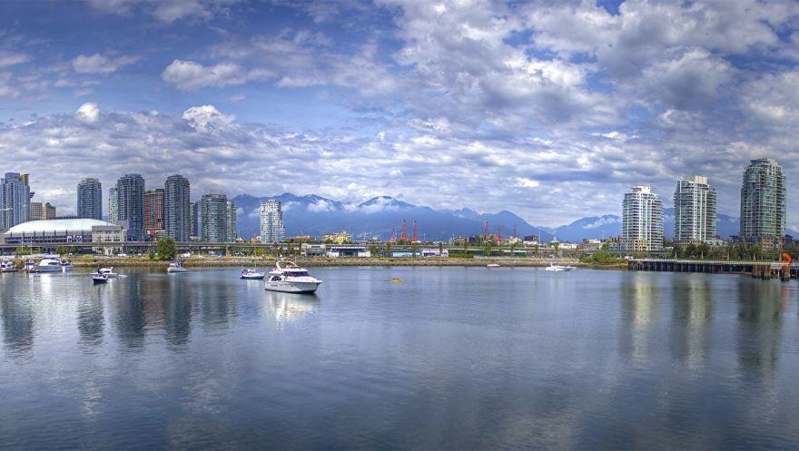 Вид на город Ванкувер