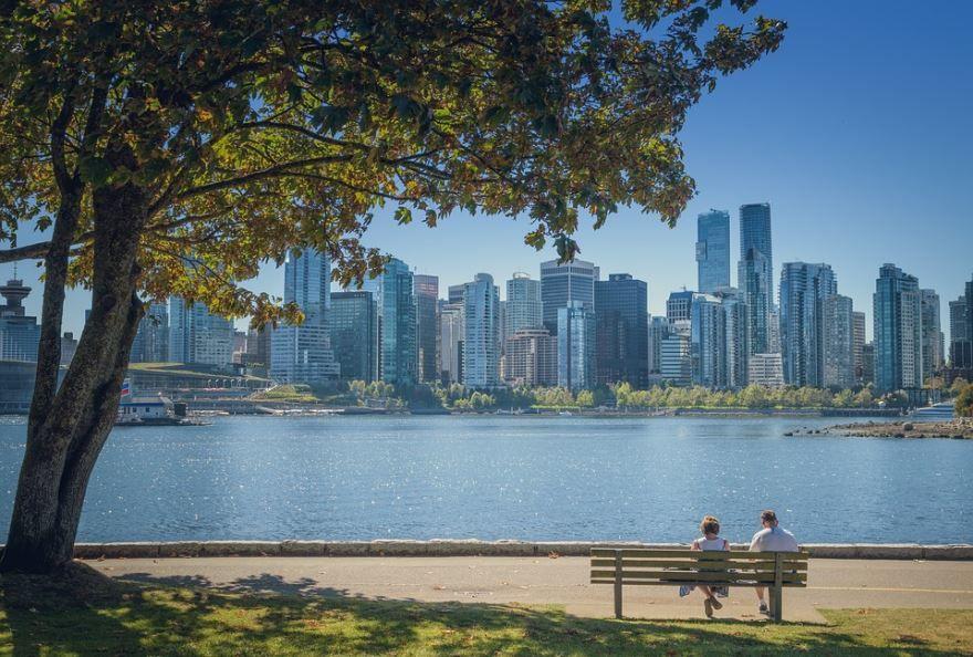 Набережная город Ванкувер
