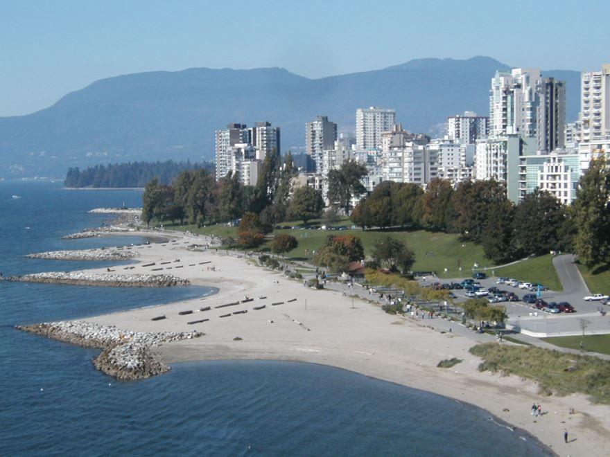 Пляж город Ванкувер