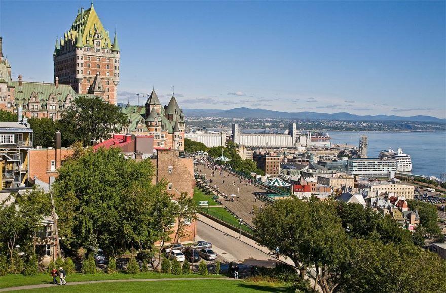 Вид на город Квебек Канада