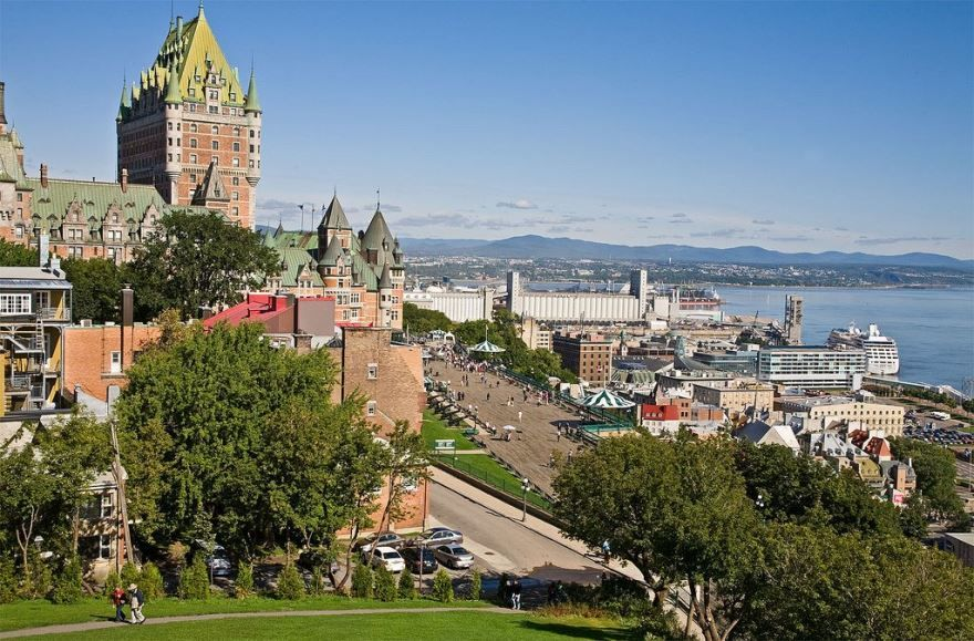 Вид на город Квебек
