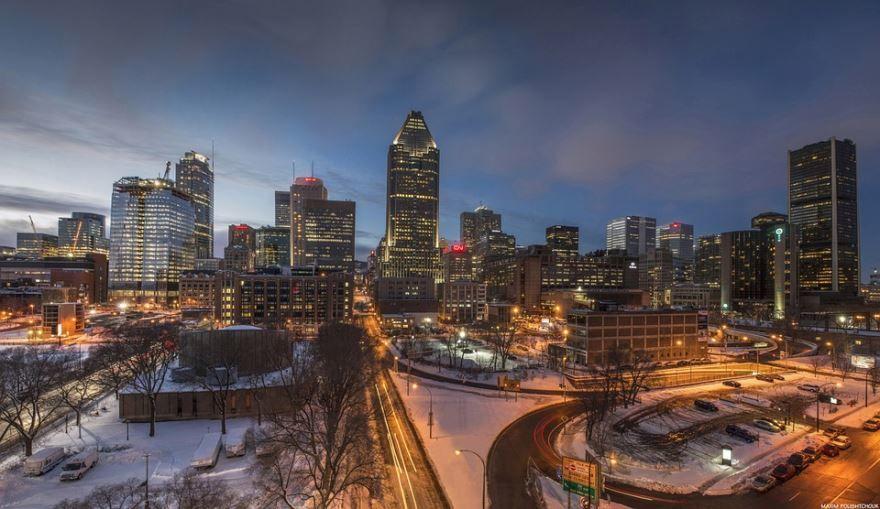 Вид на город Монреаль