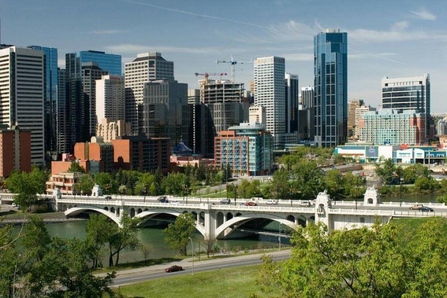 Вид на город Калгари Канада