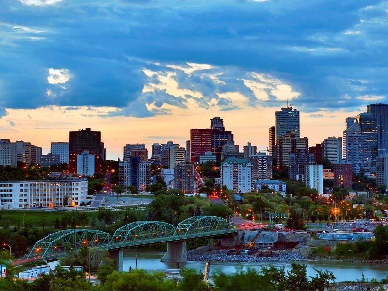 Вид на город Эдмонтон