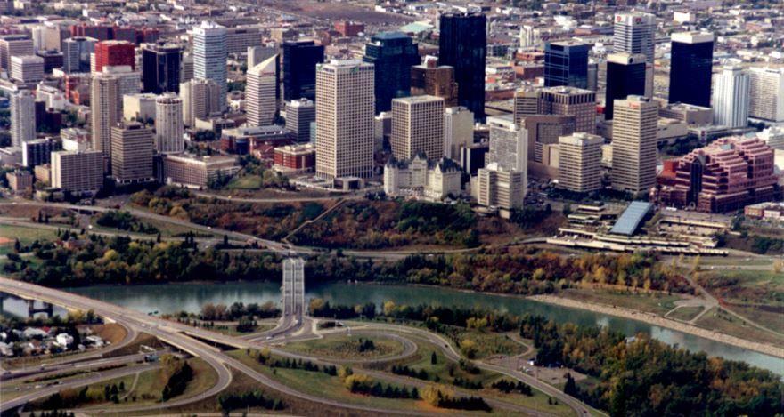 Смотреть красивое фото панорама города Эдмонтон