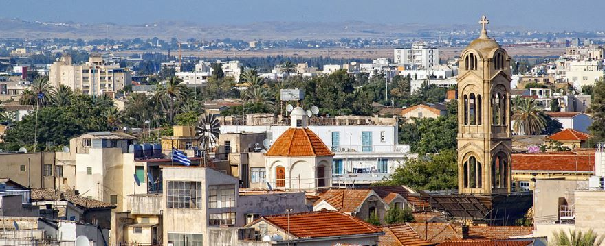 Панорама города Никосия Кипр