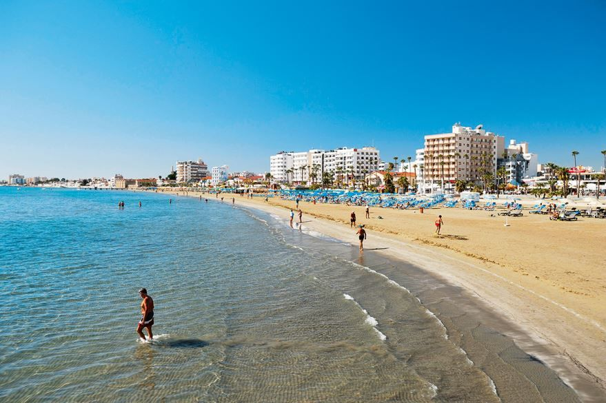 Пляж город Пафос