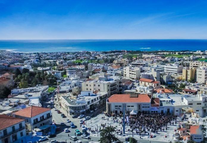 Вид на город Пафос Кипр