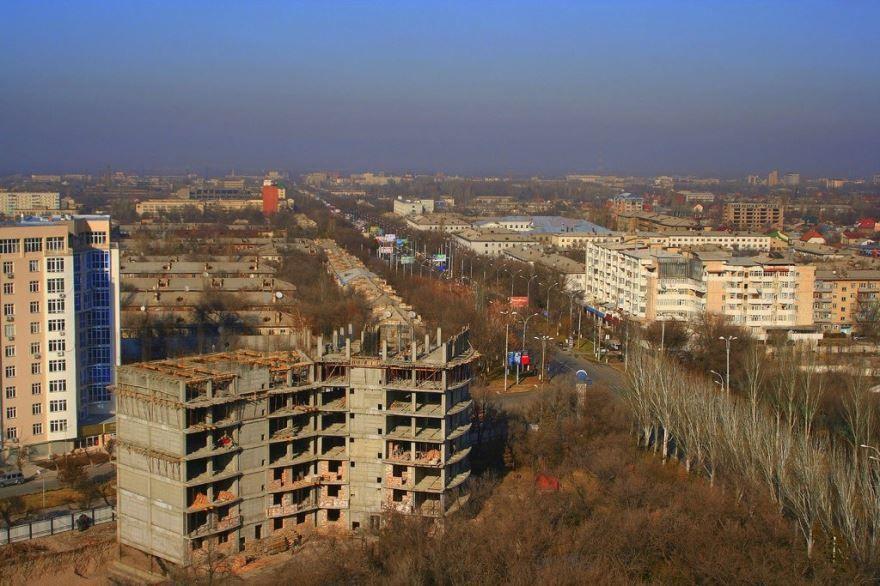 Вид на город Бишкек