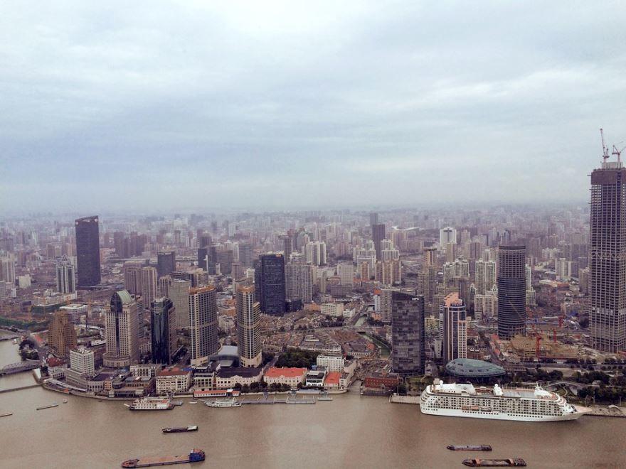 Панорама город Шанхай