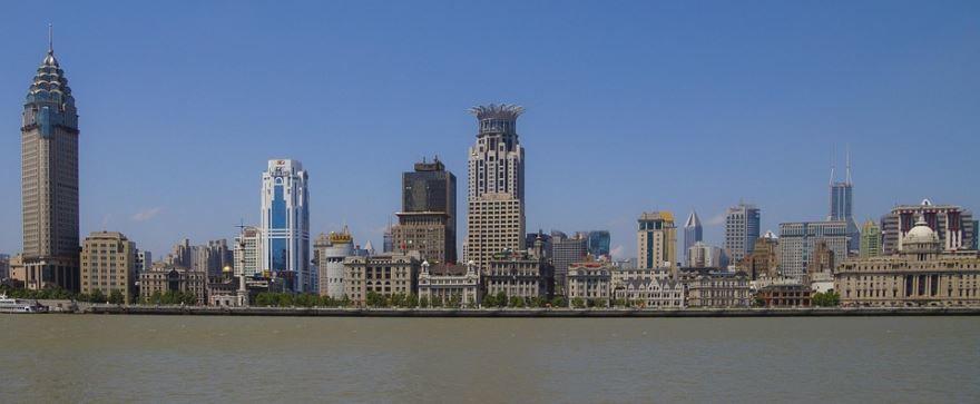 Панорама города Шанхай Китай