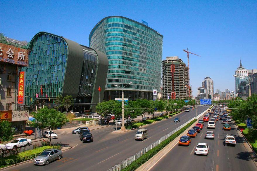 Улица города Пекин Китай