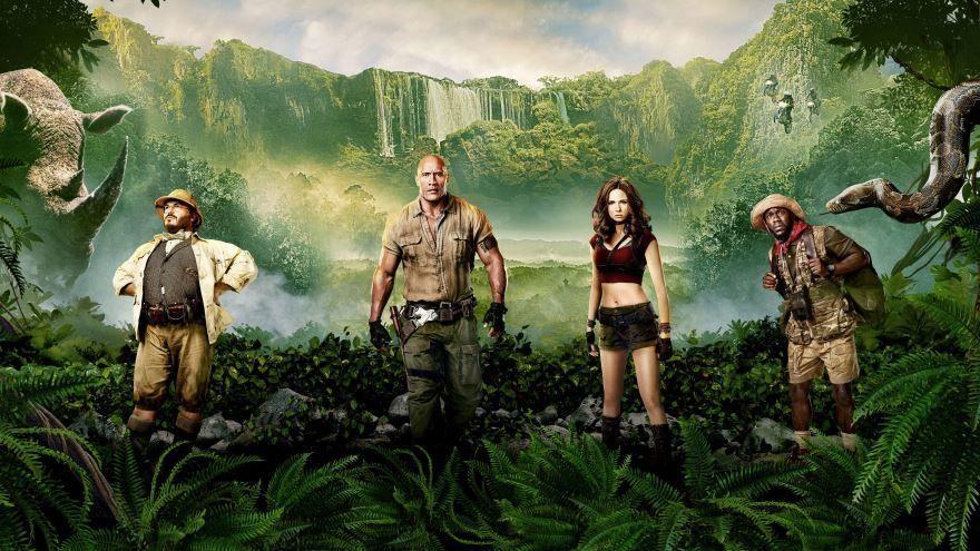 Смотреть бесплатно постеры и кадры к фильму Джуманджи: Зов джунглей онлайн