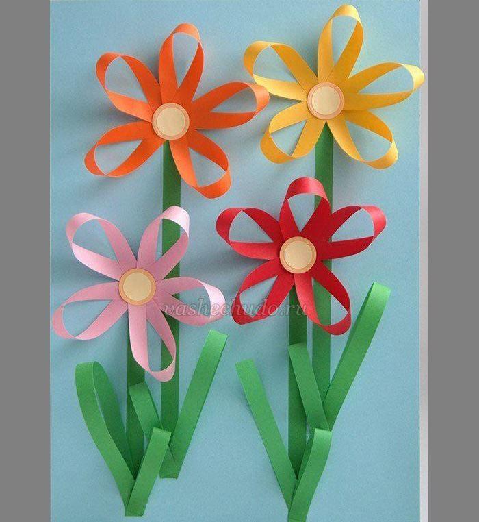 Цветы из бумаги на 8 Марта