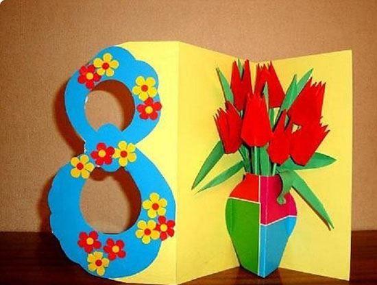 Поделки цветы на 8 Марта