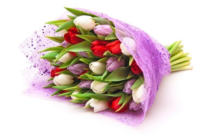 Красивая фотография цветов для девушки