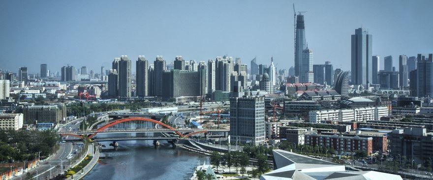 Панорама город Тяньцзинь