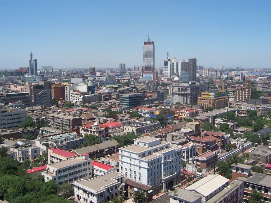 Панорама города Тяньцзинь Китай