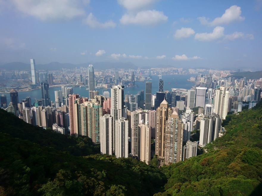 Вид на город Гонконг Китай